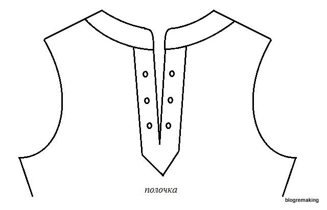 Обработка горловины подкройной прямой обтачкой. Обработка застежки втачной планкой