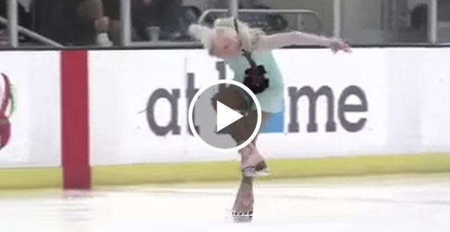 Как у нее это получается -- так владеть коньками? Ведь бабушке 90 лет!