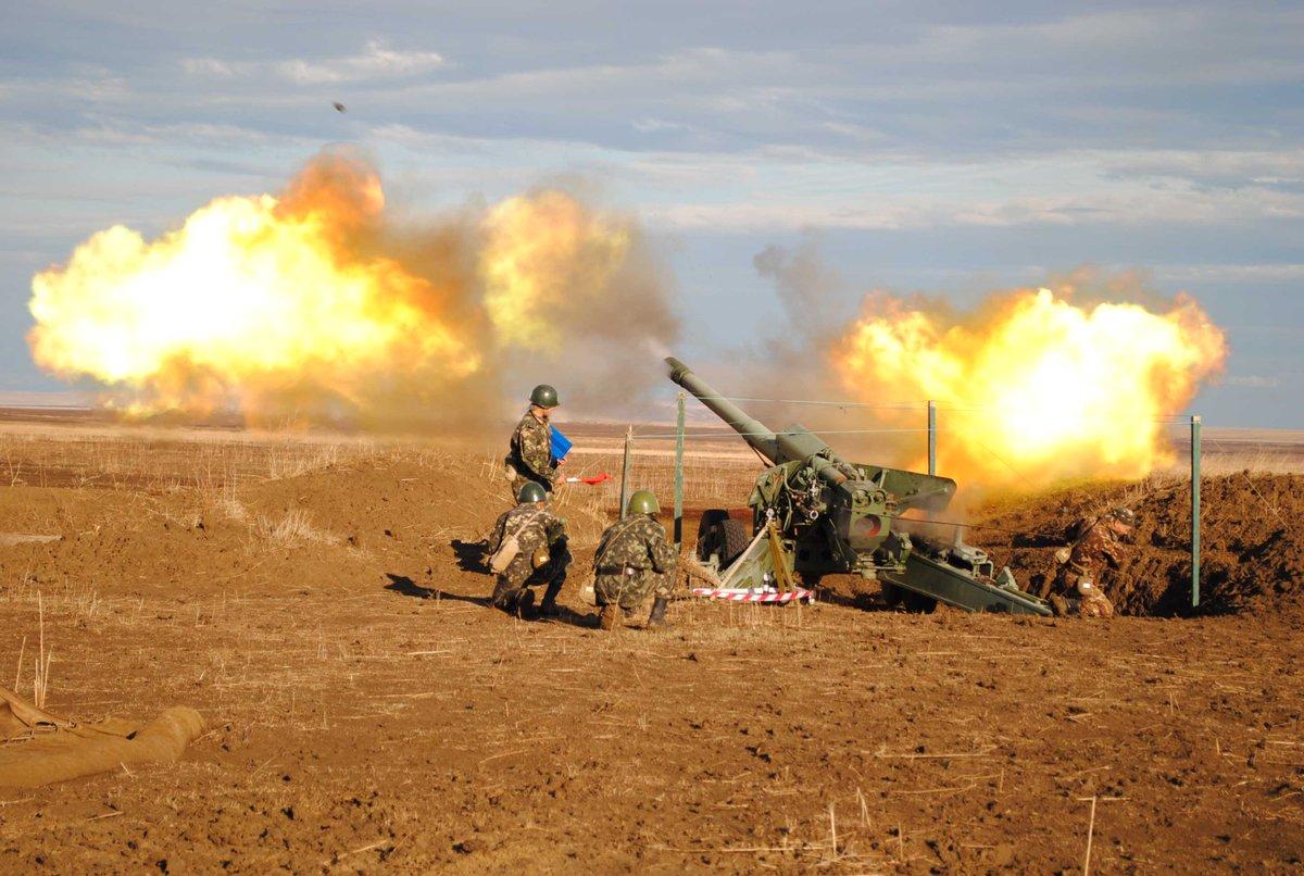Украинская армия с утра ведет обстрел юга ДНР