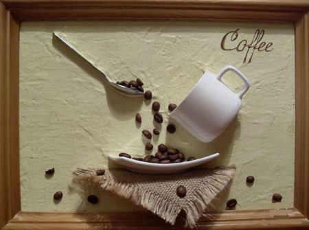 Украшаем дом поделками из кофейных зёрен