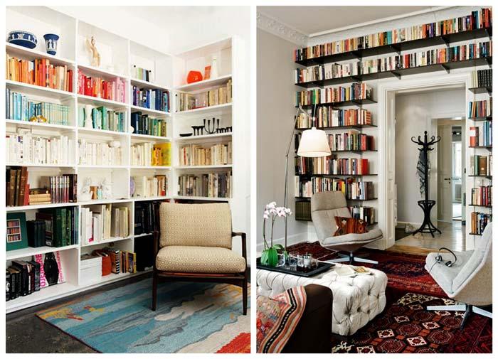 красивые интерьеры домашних библиотек