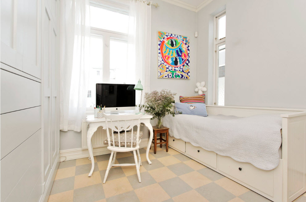 Белоснежный образ спальни