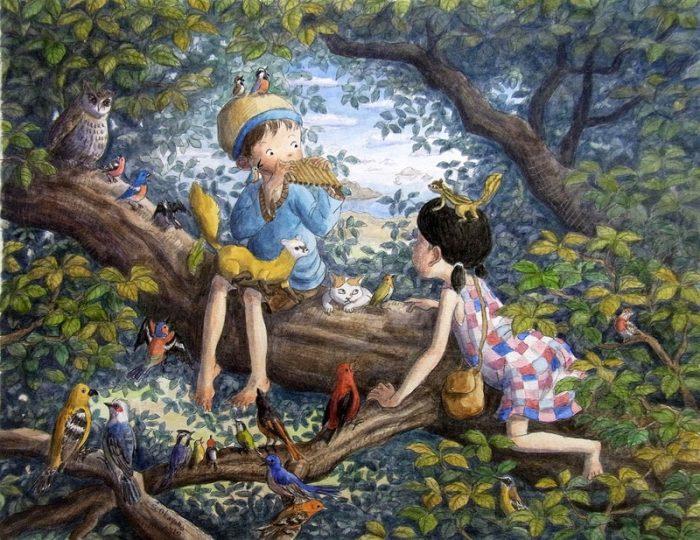 Детские мечты на картинах художника SHINYA OKAYAMA