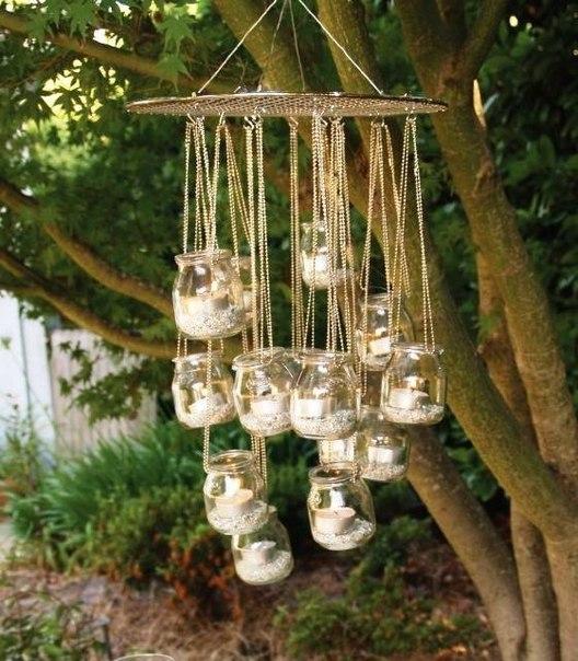 Светильники своими руками из подручных материалов для дачи