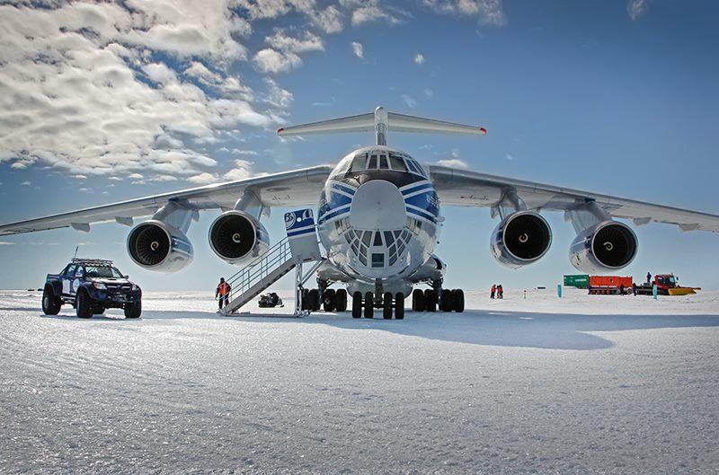 Продолжается испытательная программа полетов на самолете Ил-76ТД-90ВД в Антарктиде