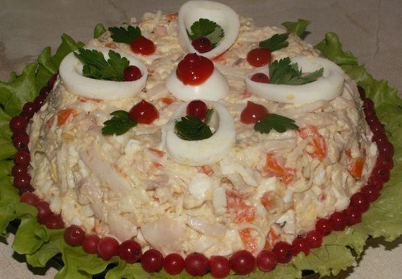 Салат «Морской царь» — для любителей морепродуктов!