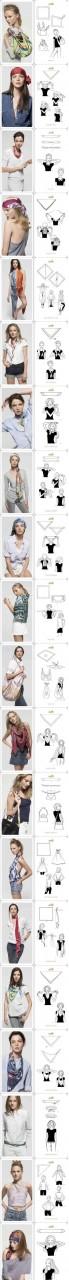 20 способов использования косынки или платка.