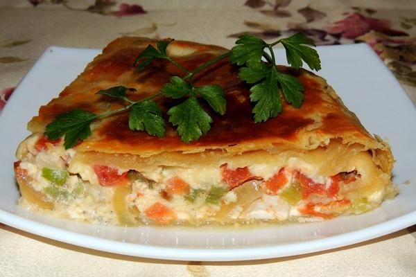 Заливной пирог с куриным фил…