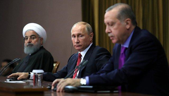 Путин уронил стул Эрдогана на пресс-конференции в Сочи