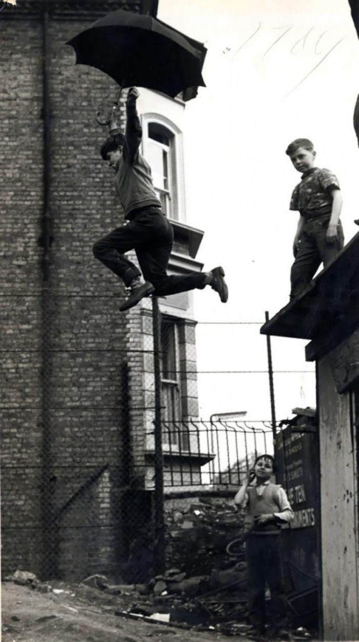 31. Прыжки с зонтом, 1963 год детство, прошлое, фотография