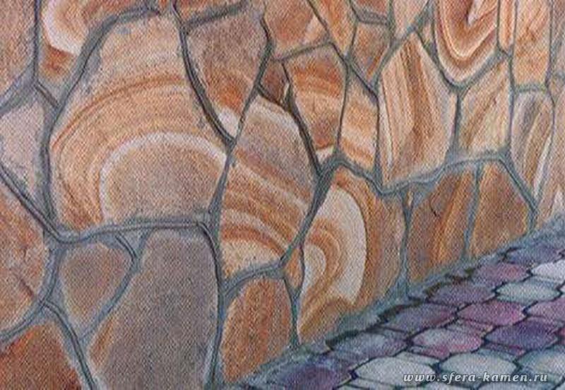 Как сделать песчаник с узором