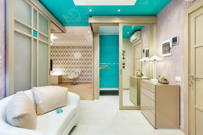 Квартира с настроением Tiffany и раздвижными дверями