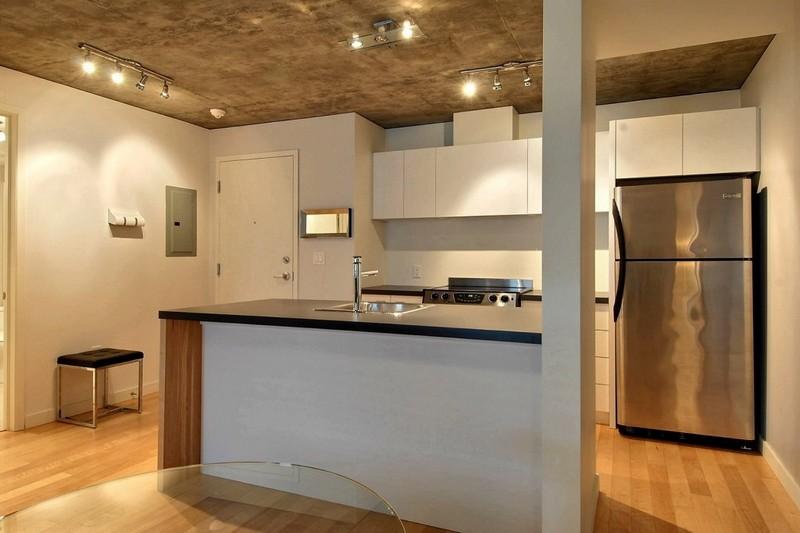 Светильники споты в дизайне кухни