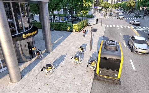 В Continental показали, как можно пачками доставлять роботов с помощью беспилотников