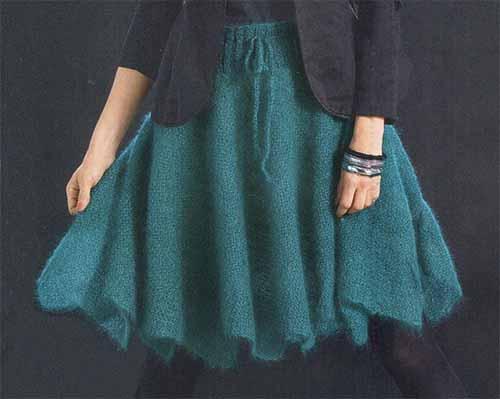 Мохеровая юбка струящейся формы