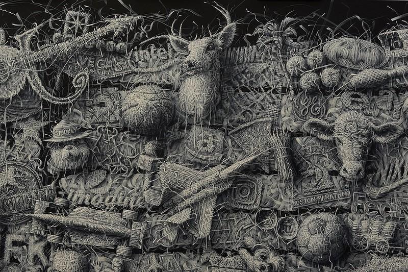 Алекс Торрес - плетение кружев маслом и кистью