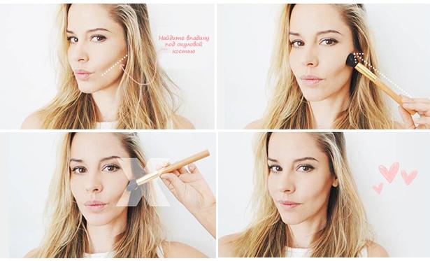 Как сделать красивыми скулы щеки