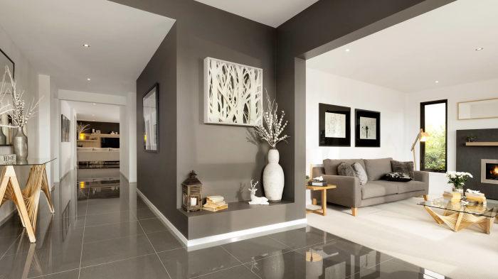 Просторные и полупустые комнаты - обязательны в современном стиле.