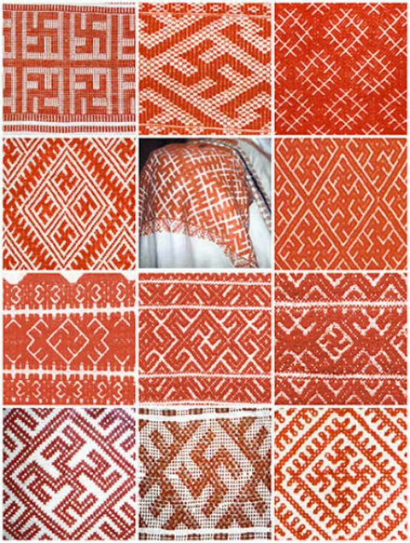 схема славянского узора вязание