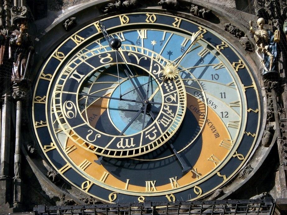Прага - главные часы Чехии