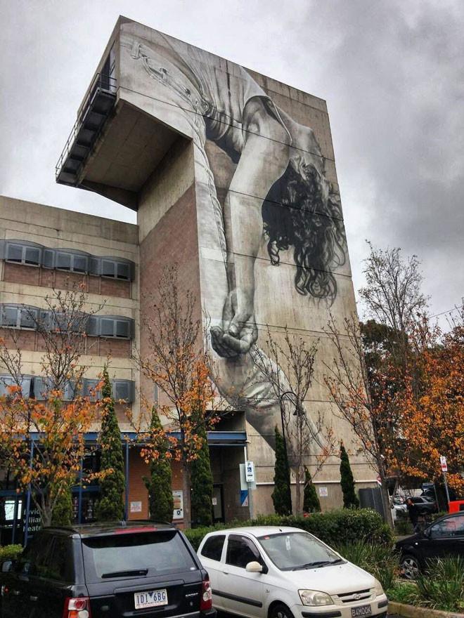 Guido van Helten (Австралия) в мире, граффити, интересное, искусство, подборка, стрит-арт, уличное искусство