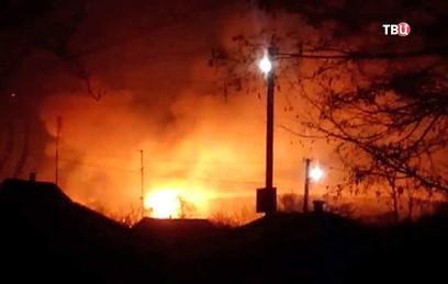 Минобороны Украины: на склад под Харьковом могли сбросить беспилотник