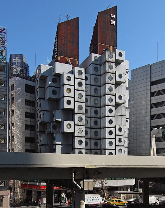 Дом-капсула Накагин в Токио
