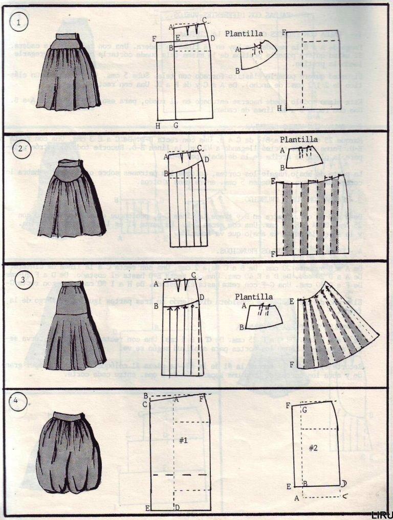 Фасоны юбок и их выкройки