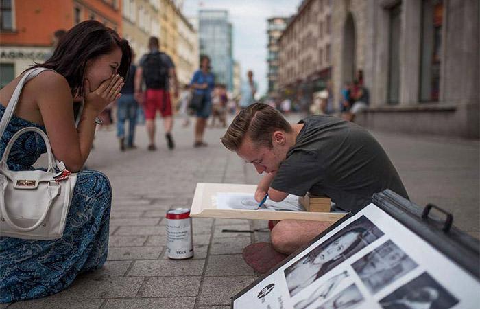 Творческая мастерская Мариуша Кедзерского – это, чаще всего, городские улицы