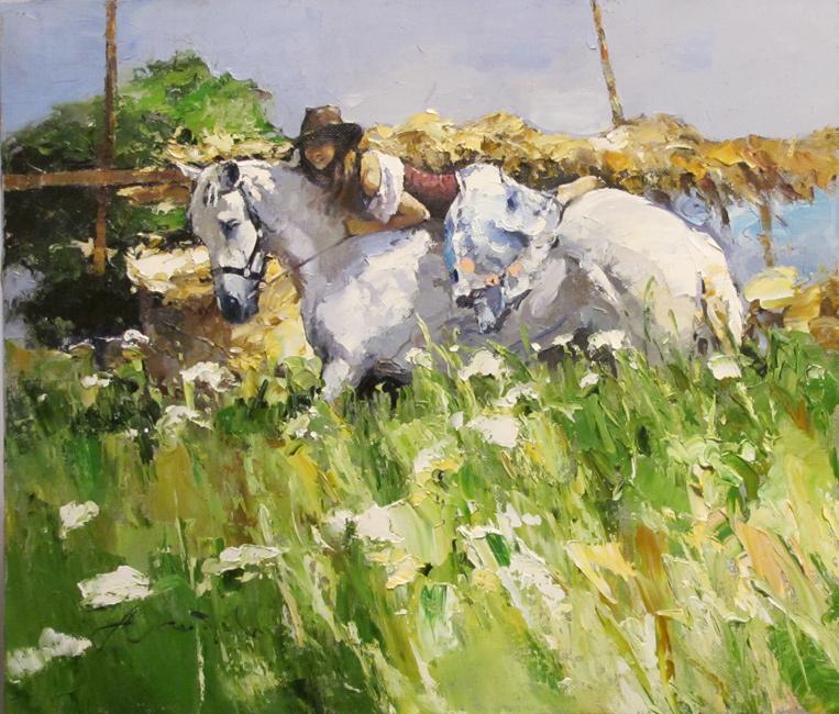 художник Зайцев Алексей, Летом в деревне
