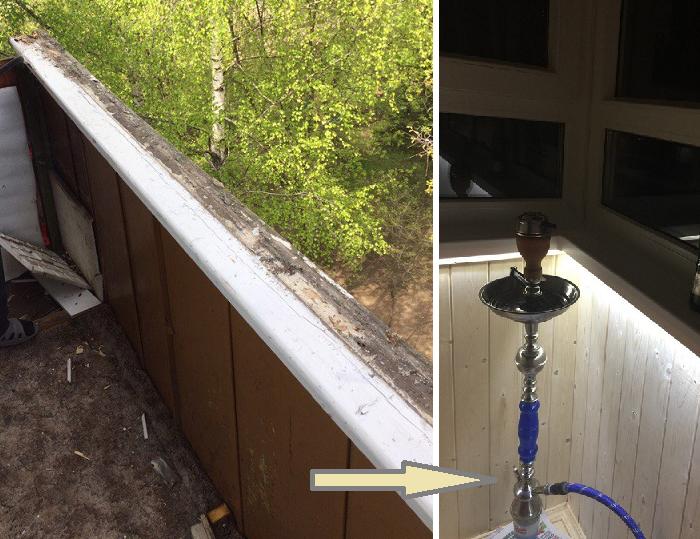 Ремонт балкона «с нуля» свои…