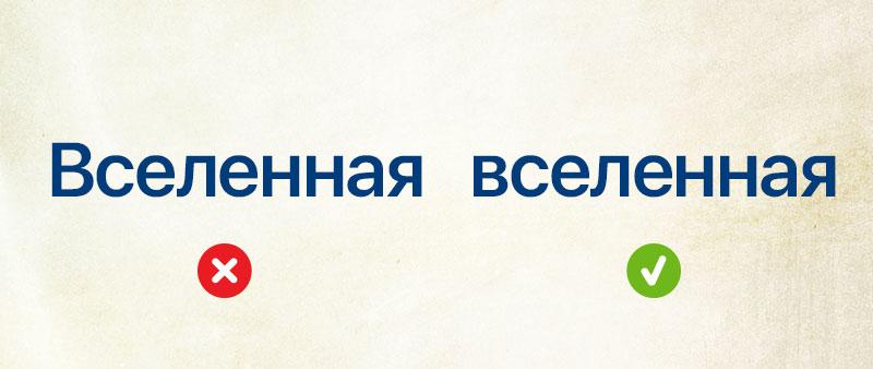правописание заглавной буквы в именах собственных