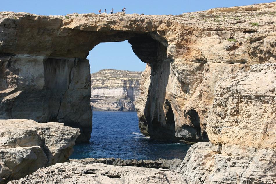 Лазурное окно, бухта Дуэйра, Гозо, Мальта геология, история с географией, красота, скалы