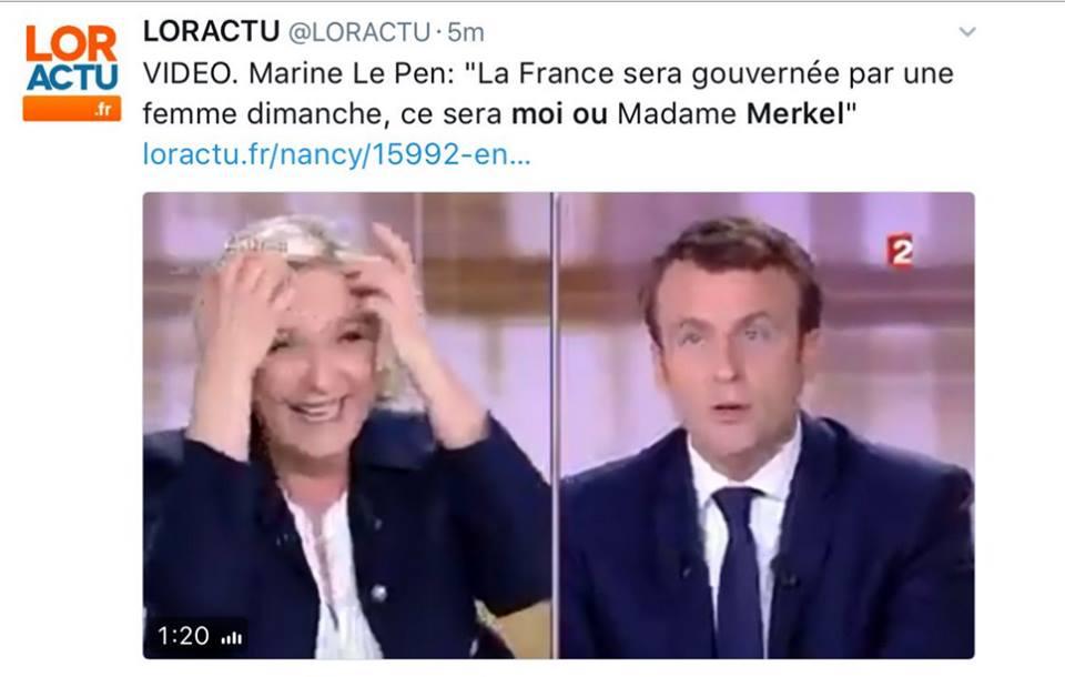 Марин Ле Пен убила Макрона в…