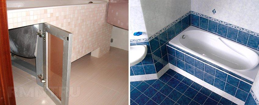 Как сделать под ванной из гипсокартона 271