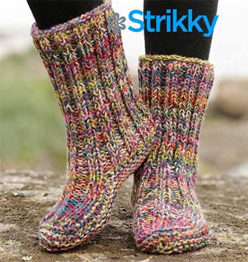носки-сапожки в радужных тонах