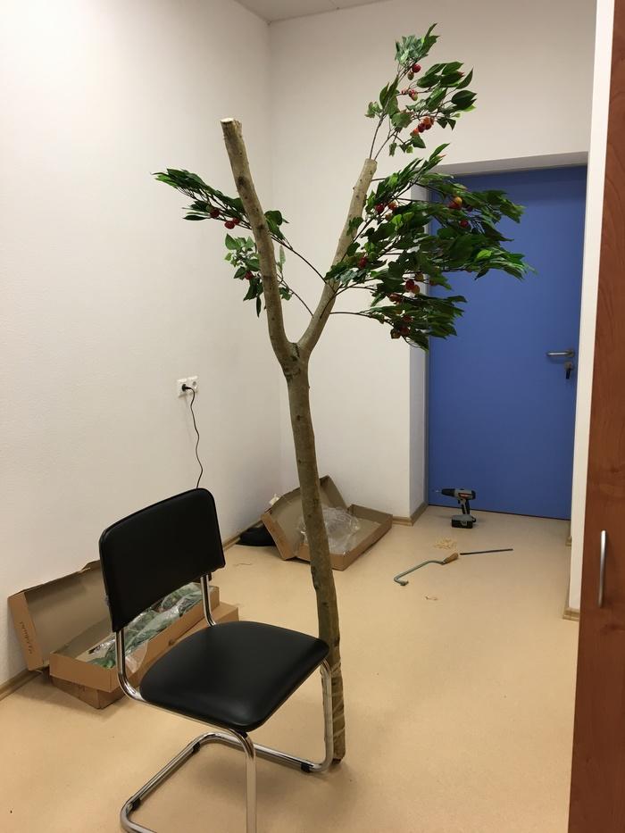 Дерево жизни в отделении онкологии. сделай сам, своими руками, дерево, дерево жизни, онкология, рак, декоративное искусство, длиннопост