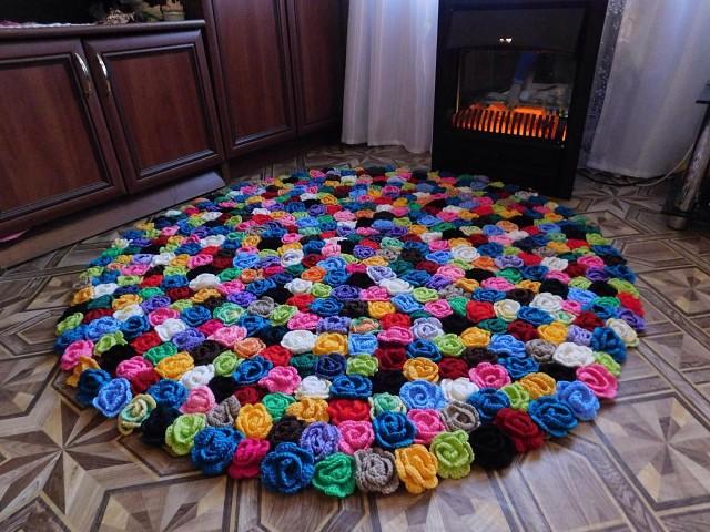 Красивые коврики крючком своими руками 6