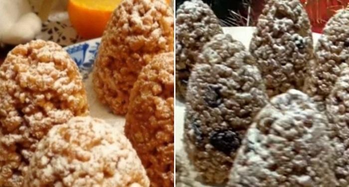 новогоднее печенье из слоеного теста
