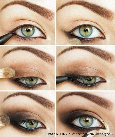 макияж для глаз пошаговое фото