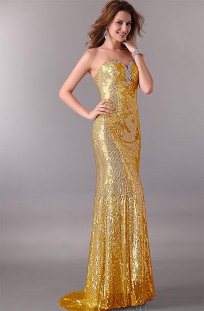 Купить вечернее платье золоте