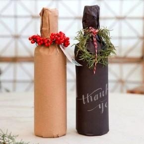 как упаковать вино в бумагу