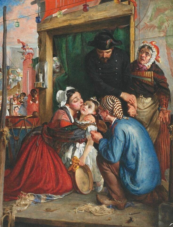 Филипп Гермоген Кальдерон «Французские крестьяне находят украденного ребенка», 1859 год