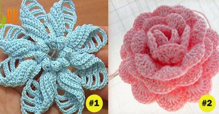 Как связать крючком 7 великолепных цветов