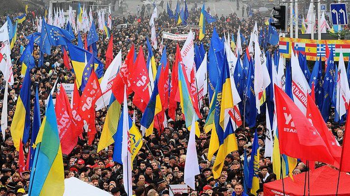 Евромайдан расколол Украину на две части