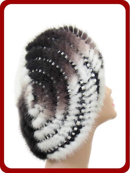 Как связать меховую шапку мастер класс