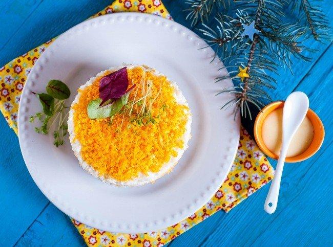 Рисовый салат с печенью и домашним майонезом. Рецепт от шеф-повара!