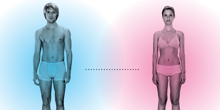 100 различий между мужчиной и женщиной