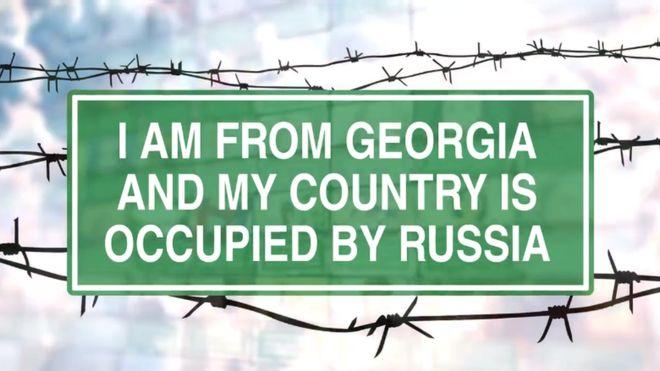 Грузия: флешмоб о российской оккупации вызвал споры в соцсетях