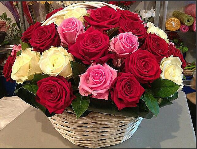 Живая открытка букет цветов